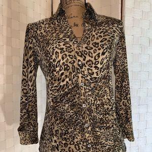 NWT Ladies Cheetah Print I.N.C. Small Blouse